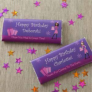 Personalized Candy Bar Wrappers - Birthday Girl - 8709