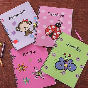 Girls Personalized Notebooks - Set of Two - 8713