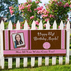 Personalized Photo Birthday Party Banner - Birthday Fun - 8724