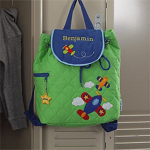 Personalized Airplane Backpack for Boys - 8732