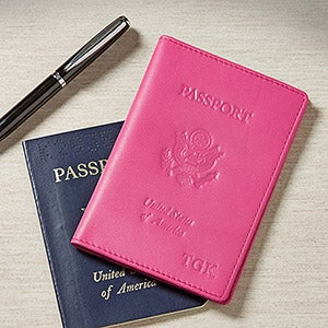 Personalized Leather Passport Covers for Women - 8744