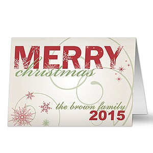Personalized Merry Christmas Holiday Cards - 8765