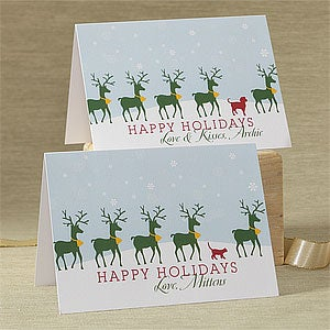 Personalized Deer Silhouette Christmas Cards - 8770