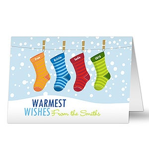 Personalized Stockings With Names Christmas Cards - 8779