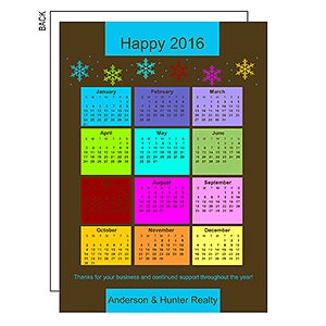 Personalized Business Calendar Holiday Cards - 8780
