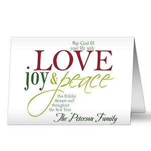 Words of christmas personalized christmas cards envelopes words of christmas personalized christmas cards 8804 m4hsunfo