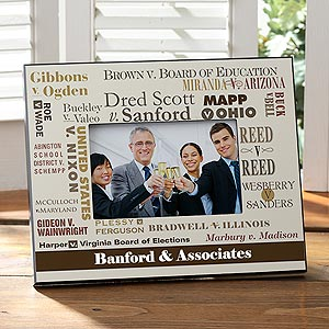 Personalized Lawyer Picture Frame - Historic Court Cases - 8809