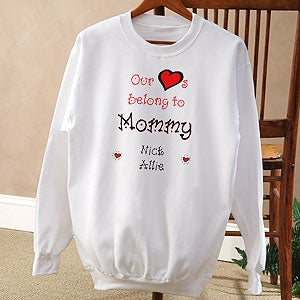 Personalization Mall Personalized My Sweet Hearts Custom Sweatshirt at Sears.com
