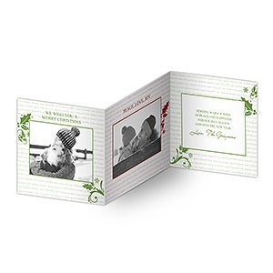 Family Is Forever Personalized Photo Christmas Cards - Tri-Fold - 8837