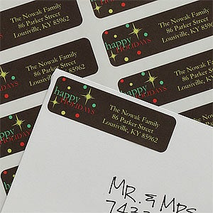 Personalization Mall Personalized Family Milestones Holiday Return Address Labels at Sears.com
