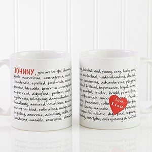 Personalized Coffee Mugs - Reasons To Love You Design - 8863
