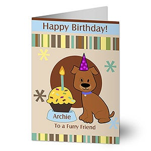 Personalized Pet Birthday Cards - Pawprints - 8916