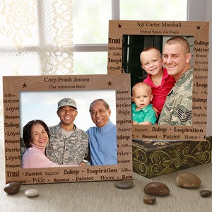 "Personalized Military Picture Frame - 8"" x 10"" - 8932"
