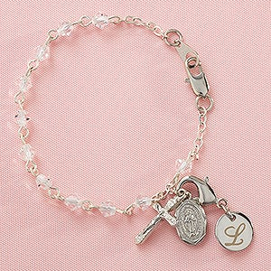 Personalized christening gifts babys first rosary bracelet personalized christening gifts babys first rosary bracelet 8956 negle Images