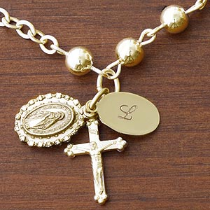 Personalized Custom Rosary Bracelet - Prayerful Moments - 8971