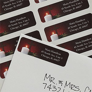 Personalized Light Of Christmas Return Address Labels - 9036