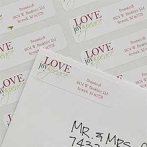 Words Of Christmas Personalized Return Address Labels - 9046
