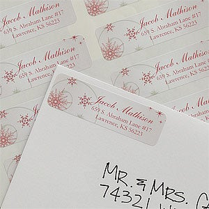 Personalized Merry Christmas Return Address Labels - 9052