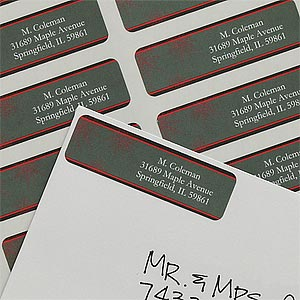 Personalized Snowflake Return Address Labels - 9059