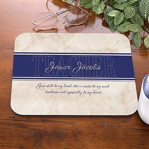 Personalized Mouse Pads - Inspiring Teachers - 9073