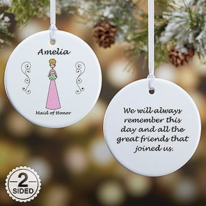 Personalized Wedding Ornament - Bridal Party Characters - 9083