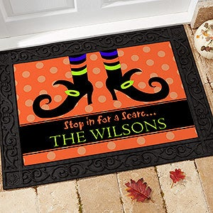 Personalized Halloween Doormats - Witch - 9095