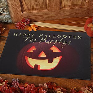 Personalization Mall Personalized Jack-O-Lantern Halloween Doormat at Sears.com