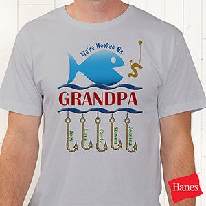Personalized Clothes and Accessories - Hooked On You Fish Design - 9105