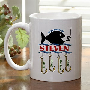 Personalization Mall Personalized Coffee Mug - Hooked On You Fish Design at Sears.com