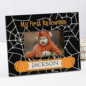 personalized babys first halloween photo frame 9110 - Personalized Halloween Decorations