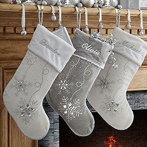 personalized christmas stockings seasons sparkle 9139 - Embroidered Stockings Christmas