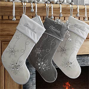 Personalized Christmas Stockings - Season's Sparkle - 9139