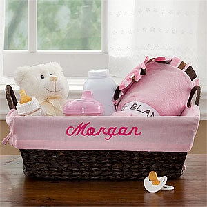 Personalized Wicker Baby Baskets  - 9146