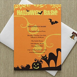 Personalized Halloween Party Invitations - Halloween Bash - 9151