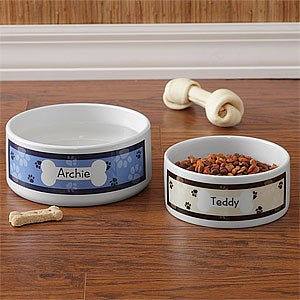 Personalized Pet Bowls - Throw Me A Bone - 9159