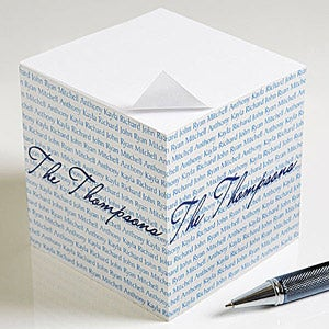 Personalized sticky Note Cubes - Family is Forever - 9161