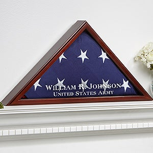 Personalized Flag Display Case American Hero