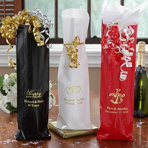 Personalized Wine Bags - Wedding & Anniversary Wishes - 9173