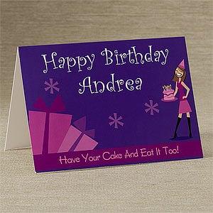 Personalized Birthday Cards - Birthday Girl - 9203