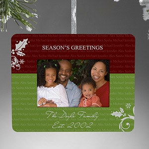 Personalized Picture Frame Christmas Ornament - Family Is Forever - 9212