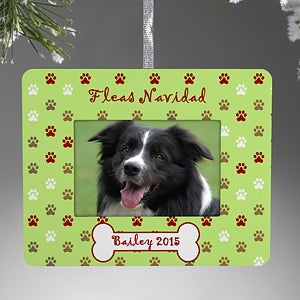 Personalized Pet Christmas Ornaments - Dog Picture Frame - 9215