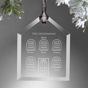 Personalized Christmas Ornaments - Home Sweet Home - 9234