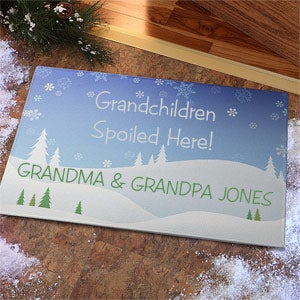 Personalized Winter Doormat - Spoiled Grandchildren - 9235