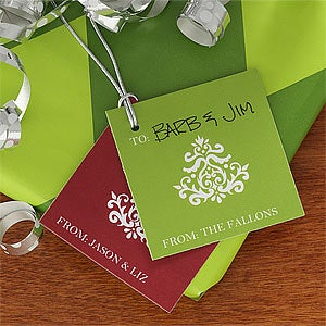 Personalized Christmas Gift Tags - Happy Holidays - 9254