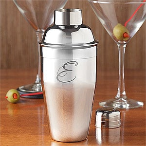 Personalized Cocktail Shaker with Initial Monogram - 9255