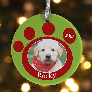 Personalization Mall Personalized Photo Christmas Ornaments - Pet Memorial Pawprint at Sears.com