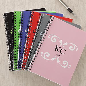 Monogram Me Personalized Notebooks - Set of 2 - 9306