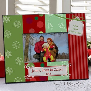Personalized Family Christmas Picture Frames - 9311