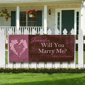 Personalized Wedding Proposal Banner - Will You Marry Me - 9384