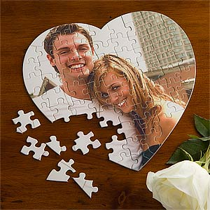 Personalized Photo Puzzle - Love Connection Heart - 9386
